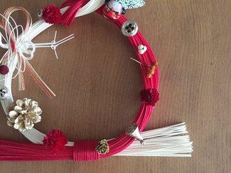 シンプル可愛い 紅白お正月飾りの画像