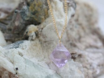 Rough Rock Fluorite Necklace パープルフローライトの原石ネックレス 14KGFの画像