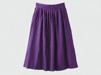 【Mサイズ】[ボタニカルダイ・プルーン染め]麻のスカート 8612-05014-00の画像