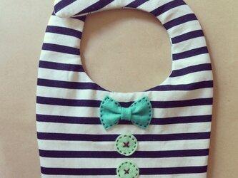 リボンとボタンのスタイ(チョコミント)の画像