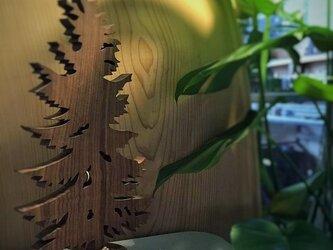 【送料無料】wood Tree 外枠付き! 天然無垢材・『ブラックウォールナット』材 木のオブジェ his-155の画像
