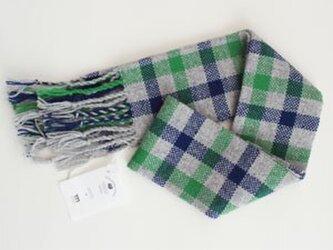 手織りウールマフラーの画像