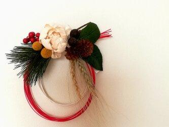 【再販】【送料無料】香る紅白水引のお正月飾りの画像