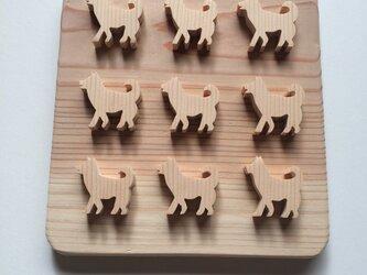 柴犬の鍋敷きの画像