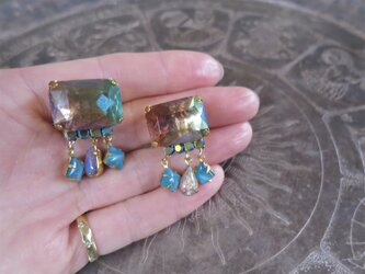 オーロライヤリング ヴィンテージビジュー vintage earrings clasp <ER-aupk>の画像