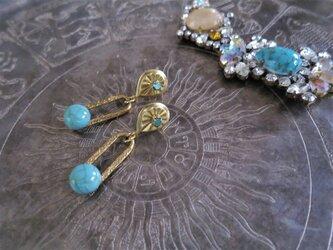 ターコイズピアス vintage earrings turquoise <PE-tqch>の画像