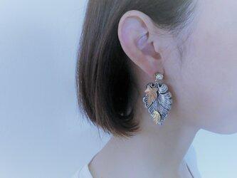 2ウェイリーフピアス vintage earrings Miriam Haskell leaf <PE-MHlfsv2>の画像