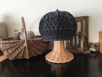 マーガレットのベレー帽 【ブラックグレー】の画像