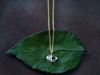 大粒ハーキマーダイヤモンドの一粒ネックレス ~Albinaの画像