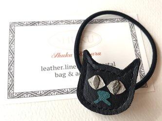 ねこのヘアゴム 黒猫の画像