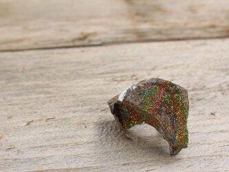 Rainbow Pyrite Tie Tack  レインボーパイライトのピンブローチの画像