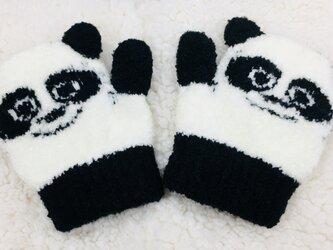 パンダなりきりミトン手袋の画像