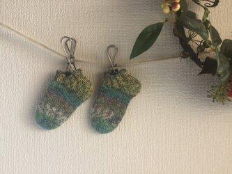 ★☆手編みのベビー用靴下(0〜6ヶ月用)(洗濯機で洗えます♪)☆★の画像