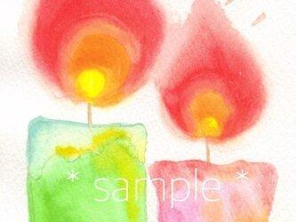 ポストカード2枚セット(ペアキャンドル)の画像
