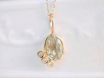 イエローサファイア×ダイヤモンドペンダント(No.1032)の画像