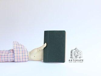A6Size・ノートブックカバー/Dottoreブリティッシュグリーンの画像