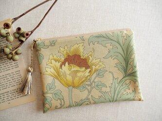 ウィリアム・モリス 18cmポーチ 「Anemone」 セージの画像