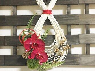 胡蝶蘭の和飾りの画像