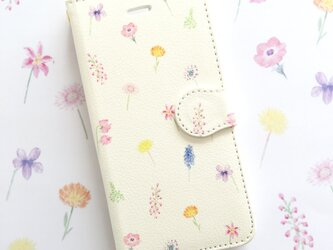ボタニカルⅢスマホケース 手帳型 【受注生産】アンドロイド iPhoneケース 花柄の画像