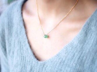 グリーンカルセドニーのオニオンカットネックレス ~Mailisの画像
