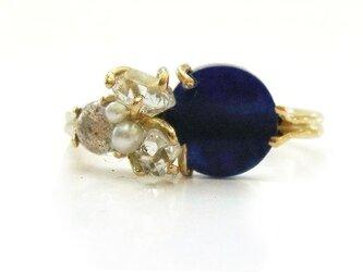 【ご予約】インディゴブルーのリングの画像