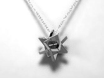 Puzzle Pendant (IGAIGA) Silver950 銀製 パズル ペンダント<受注制作>の画像