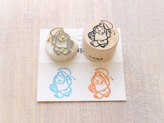 【Kaorimura】【消しゴムはんこ】 【hannko30077】【3センチ】【七福神:恵比寿】の画像