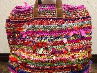 sold 【一点もの】トートバッグ(裂き編み)の画像