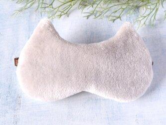真冬のふわもこ Cat(グレー) アイマスク/無料ポーチ付/旅行/ギフト/クリスマス/の画像