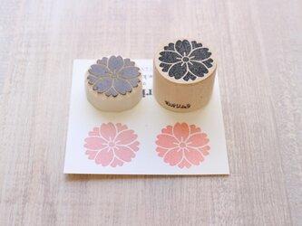 【Kaorimura】【消しゴムはんこ】 【hannko30056】【3センチ】【桜】の画像