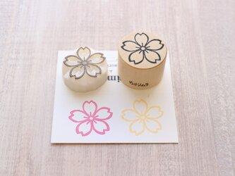 【Kaorimura】【消しゴムはんこ】 【hannko30054】【3センチ】【桜】の画像