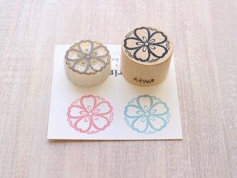 【Kaorimura】【消しゴムはんこ】 【hannko30053】【3センチ】【桜】の画像