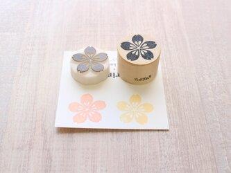 【Kaorimura】【消しゴムはんこ】 【hannko30048】【3センチ】【桜】の画像
