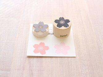 【Kaorimura】【消しゴムはんこ】 【hannko30047】【3センチ】【桜】の画像