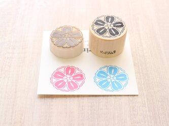 【Kaorimura】【消しゴムはんこ】 【hannko30046】【3センチ】【桜】の画像