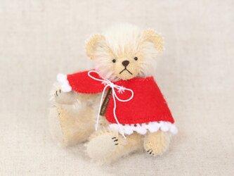 ミニチュアテディベア ピーナッツ クリスマスケープの画像