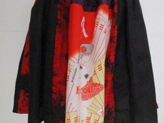 送料無料 羽織と長襦袢で作ったミニスカート 3185の画像