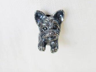 ヨークシャテリアの犬ピンブローチの画像