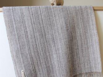 ホームスパン大判ストール ナチュラルカラーの画像