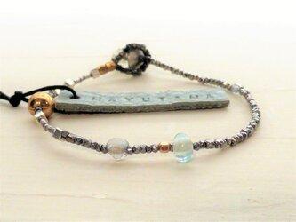 ミスティックトパーズ×フランスアンティークglassbracelet(sorairo) 送料無料の画像