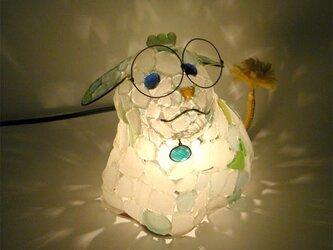 シーグラスランプ 子犬のランプ-5の画像