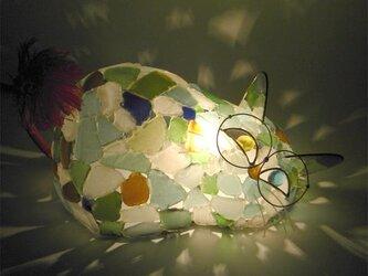 シーグラスランプ 猫らんぷ-18の画像