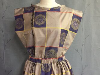 絹の着物生地のセットアップの画像