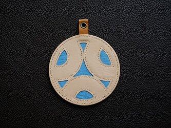 KAMON-家紋−コースター細輪に三ツ覗き蛇の目の画像