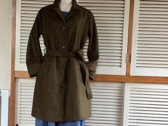 受注制作:ウールの圧縮ニットで作ったコートの画像