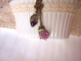 ◆◇アンティークフォークとローズのネックレス◇◆の画像