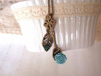 ◆◇アンティークスプーンとローズのネックレス◇◆の画像