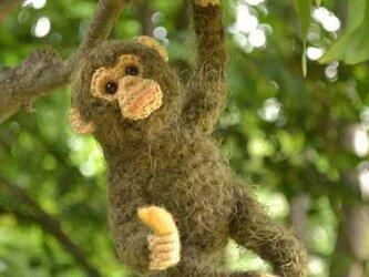 チンパンジーのあみぐるみの画像