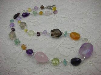 SIL天然石マルチミックスネックレスの画像