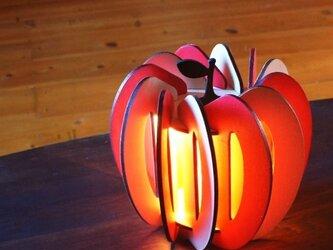 「りんご」木製フロアランプの画像